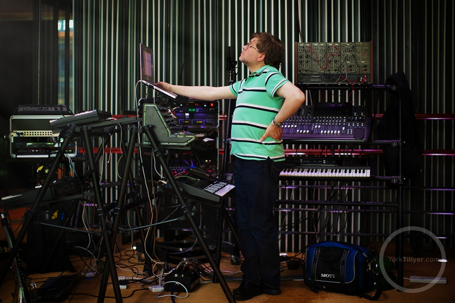 Mark Ayres of The Radiophonic Workshop Photographed by Y Tillyer